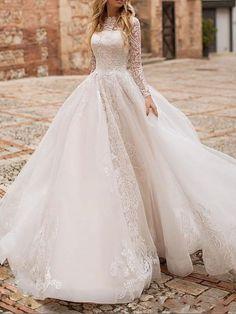 Lace Wedding Dress, White Wedding Dresses, Wedding Gowns, A Line Bridal Gowns, Bridal Dresses, Cheap Wedding Dresses Online, Marie, Ball Gowns, Boho