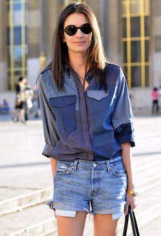 Isabel Marant patchwork denim shirt. $565.