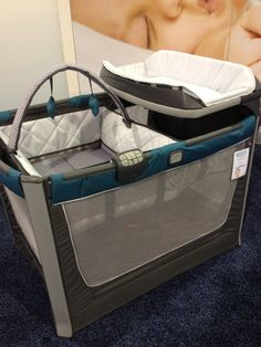Graco's new Pack-and-Play comes with a removable Moses-basket-like sleep station, a changing station, and lots of storage space.