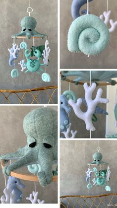 Nautical Nursery Decor, Ocean Nursery, Seahorse Nursery, Baby Decor, Nursery Ideas, Hanging Crib, Hanging Mobile, Baby Shower Gifts, Baby Gifts