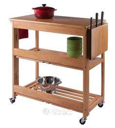 Wood Kitchen Island, Kitchen Cart, Kitchen Islands, Solid Wood Kitchens, Light Oak, Dining Furniture, Space Saving, Countertops, Andover Mills