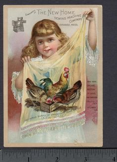 Antique Advertising Cards | Details about Antique 1890 Sam Loyd Blind Luck Puzzle Original Sewing ...