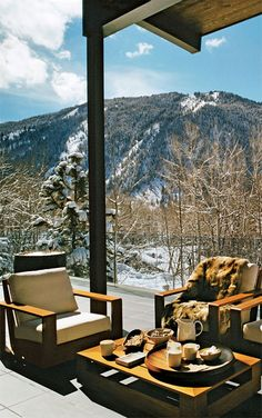 where i will eat breakfast and drink hot chocolate and sit and be coze by an awesome view by my hot husband john krasinski in my future ski lodge