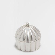 Zara Home Bote Metalico Plateado