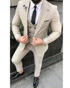 Mens Style Discover Red Slim Fit Suits mens Wedding Suits With Pants Business 2 Pieces Blazer Outfits Men, Mens Fashion Blazer, Suit Fashion, Mens Blazer Styles, Fashion Dresses, Fashion Fall, Best Suits For Men, Cool Suits, Formal Suits For Men