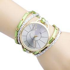 2016 Fashion Dress Ladies Watches Bracelet Watch Women Relogio Feminino Casual Knit Long Leather Watch Clock Female Montre