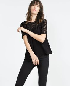 Image 2 of GUIPURE LACE BLOUSE from Zara