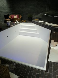 Licht grijs zwembaden jr pools pinterest - Witte pool liner ...