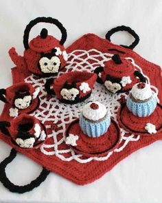 Ladybug Tea Set Crochet Pattern – Maggie's Crochet