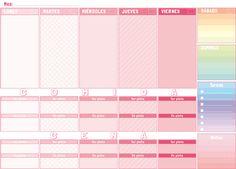 Anota tus cosas más importantes de la #semana con nuestro nuevo #planificador semanal de #colores