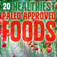 20 Healthiest Paleo Approved Foods On The Planet! #paleo #health