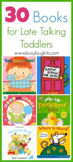 Fantastic book list for toddlers and language development. Lots of ideas to help learn new words.