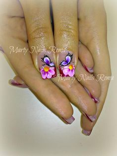 Amazing Tips For The Best Summer Nails – NaiLovely Butterfly Nail Designs, Butterfly Nail Art, Cute Nail Designs, Cute Nail Art, Beautiful Nail Art, Fancy Nails, Pretty Nails, Hot Nails, Hair And Nails