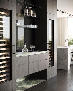 Home Wet Bar, Bars For Home, Modern Interior Design, Interior Architecture, Bar Sala, Kitchen Bar Design, Mim Design, Modern Home Bar, Luxury Bar