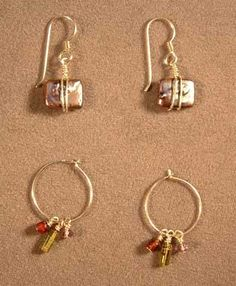 May 14th - 6-8pm and June 8th - 2-4pm Basic Earrings Class at Funky Hannah's, Racine, WI