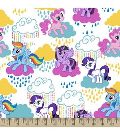 Hasbro#174; My Little Pony#174; Print Fabric-Pony Clouds Eco Canvas