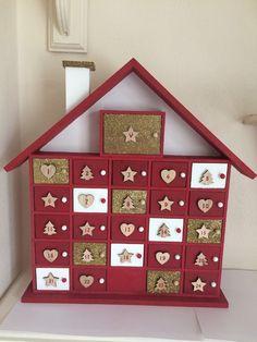 Advent Calendar House, Advent House, Christmas Tree Advent Calendar, Wooden Advent Calendar, Advent Calendars, Noel Christmas, Christmas Gifts For Kids, Christmas Countdown, Christmas 2019