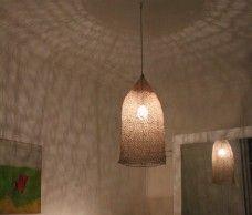 Lampe suspension en filet Nasse grande taille par Best Before