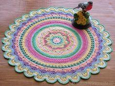 Beautiful thread #crochet doily pattern