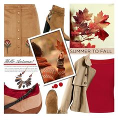 """Summer to Fall"" by tinayar ❤ liked on Polyvore featuring Burberry, Dorothy Perkins, See by Chloé and H&M"