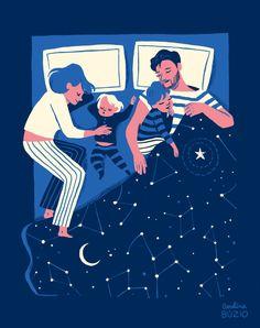 Family Sleeping by Carolina Buzio