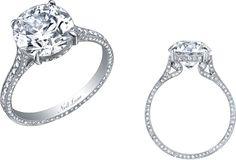 Neil Lane round diamond and platinum ring, R00029.