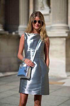 Christian Dior bag and dress   - HarpersBAZAAR.com