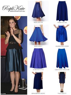 Shop repliKates of the Jenny Packham peacock blue full circle skirt