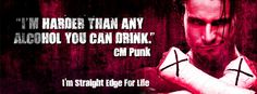For Life. Cover Pics For Facebook, Clean Life, Cm Punk, Drug Free, Punk Rock, Drugs, Alcohol, Community, Image