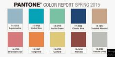 Things Festive Weddings & Events: Color Palette Inspiration: Pantone Spring 2015 Color Report