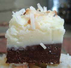 Mocha Coconut Fudge Recipe. Oh wow. I'm not much of a desert pinner but I'm going to have to bake this at some point in my lifetime.