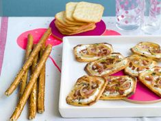 Crackers façon flamenkuche - Recettes