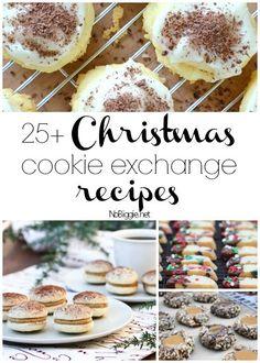 25+ Christmas Cookie Exchange Recipes via NoBiggie.net