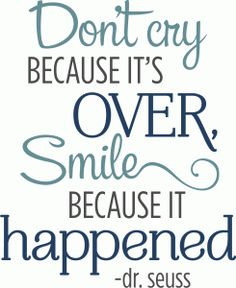 Silhouette Design Store - View Design #81963: don't cry because it's over phrase