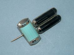Vintage 1920s Art Deco Black and Blue Enamel Hat Pin on Etsy, $45.00