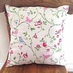 Handmade Shabby Chic Cushion Birds and Flowers Shabby Chic Cushions, Handmade Cushions, Shabby Chic Hearts, Heart Cushion, Flower Bird, Soft Furnishings, Wedding Bridesmaids, Home Accessories, Personalized Gifts