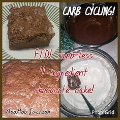 Carb-LESS 4 Ingredient Chocolate Protein Cake (FTDI) MooMoo Jackson Style