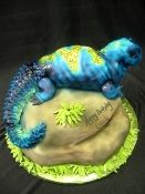 This cake is adorable. Uromastyx Lizard, Lizard Cake, Sculpted Cakes, Reptiles And Amphibians, Let Them Eat Cake, Party Cakes, Sculpting, Bakery, Creatures