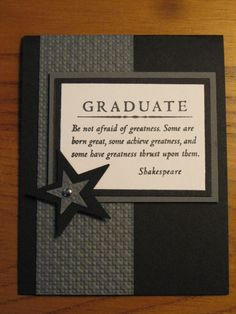 Handmade Card: Graduation Congrats College High school Him or Her Stampin Up