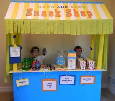 Concession Stand.  Would be so fun for a birthday party.