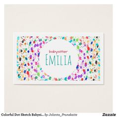 Download this babysitter business card template and other free colorful dot sketch babysitter business card flashek Gallery