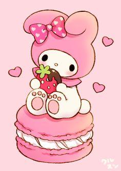 Sanrio My Melody Strawberry Macaron