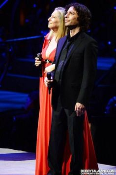 Jason Gould and his mom Barbra Streisand