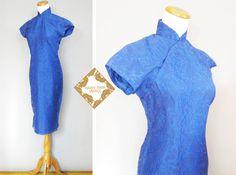 Vintage Kleid / Cheongsam Kleid 50er Jahre Cheongsam von MardyStark