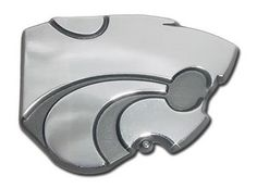 Kansas State University Wildcats Logo Silver Chrome Auto Emblem is for the Kansas State University or NCAA, Kansas State Wildcats sports fan and comes made of solid chrome with large, silver Kansas State Wildcats mascot logo.
