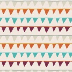 Festive Forest Party Banners Buntings Cream Camelot  Designer Fabric SALE