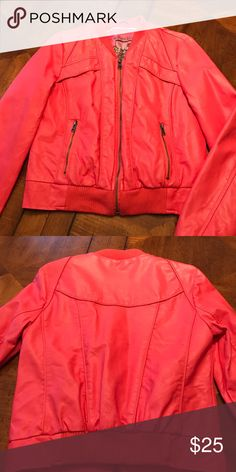 Peach colored jacket WOW WHAT A DEAL!! 🎉Peach colored jacket- perfect condition.  No wear or tear, only worn a couple times. Bernardo Jackets & Coats Utility Jackets