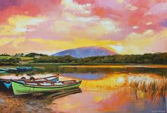 Nephin From Lough Conn Painting by Conor McGuire
