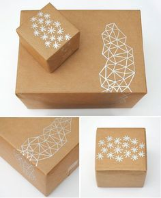 Decorate brown paper with metallic pens