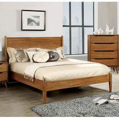 A&J Homes Studio Lennart Platform Bed Size: California King, Finish: Oak